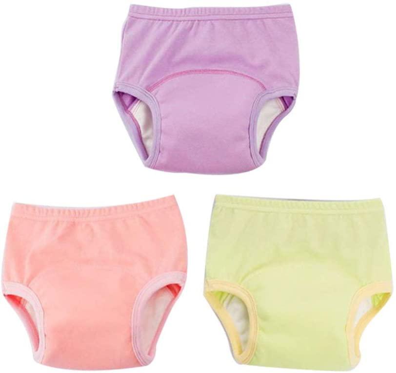 Milisten 3pcs Toddler Potty Training Pants 80cm Washable Cotton Underwear Baby Diaper Pants for Toddlers Infants