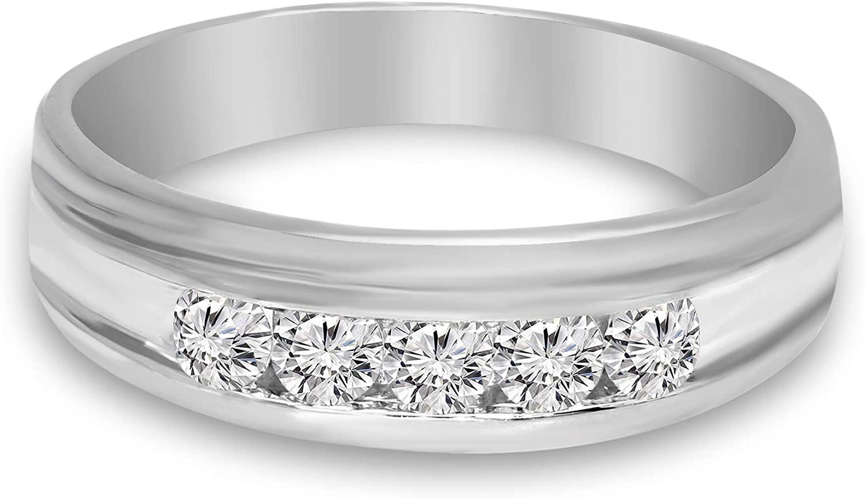 Natural 1/2 ct Diamond Ring 2 Pcs For Women GH-I1 Quality 10K White Gold Diamond Jewelry Gifts 10K Diamond Rings