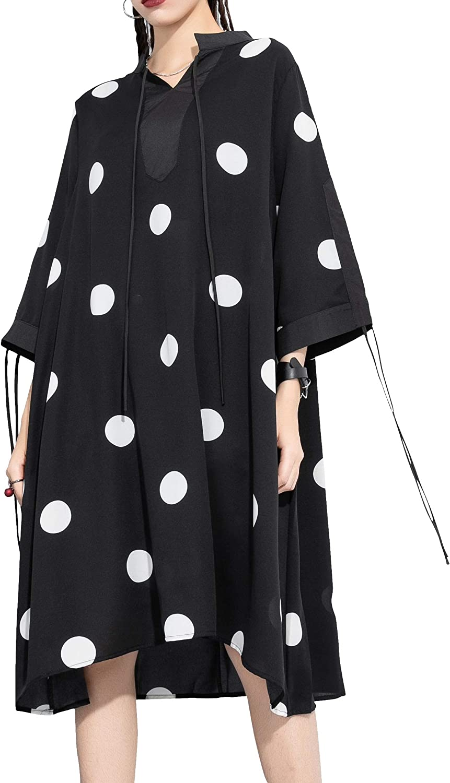 ellazhu Women Black Short Sleeve Casual Tunic Tshirt Dresses GY2270