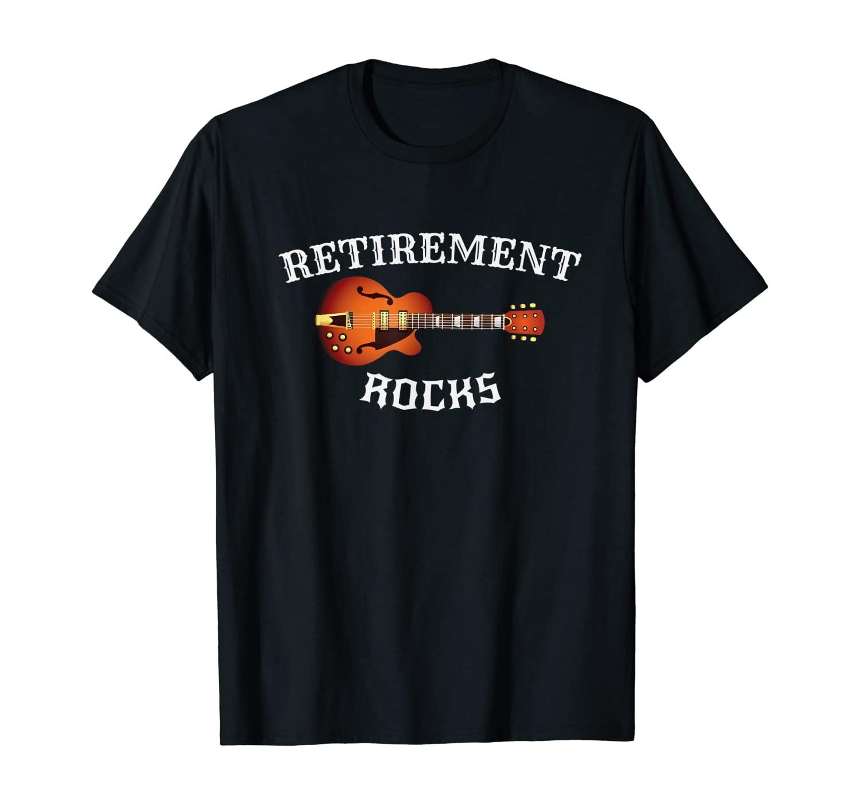 Retirement Rocks Acoustic Guitar Old Rockers Gift T-Shirt