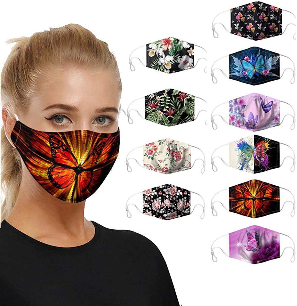 Stylish Face Coverings with Replaceable Filters for Women,New Fashion Planet Print Dust Bandanas for Outdoors