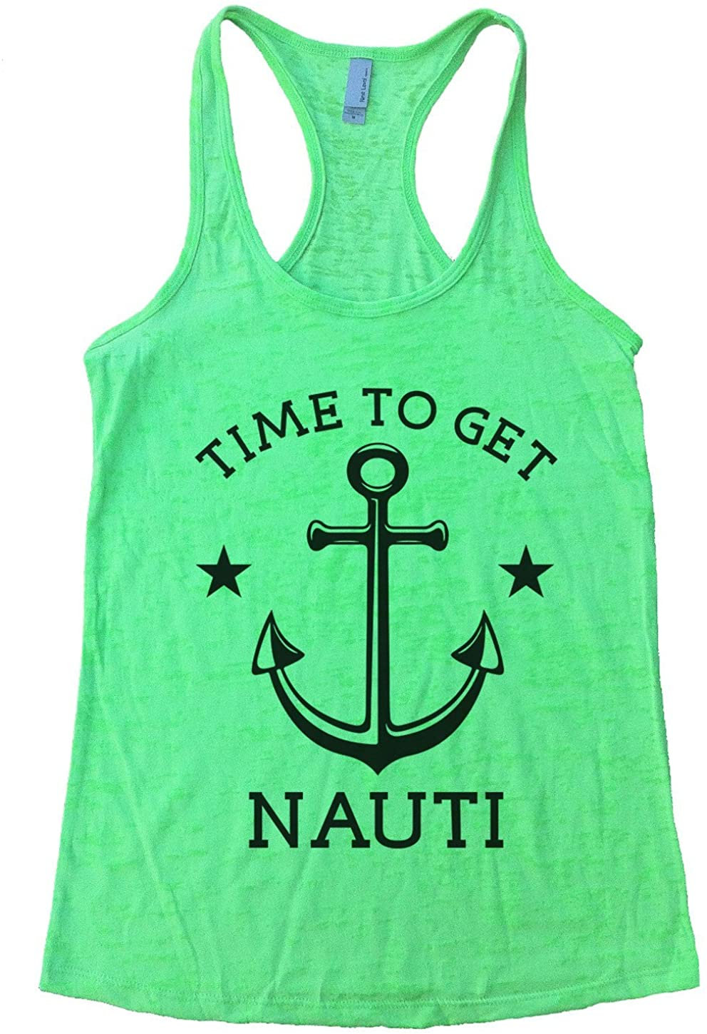 Summer Lake Tank Top Time to Get Nauti Anchor Tee Girls Party Nautical Boating