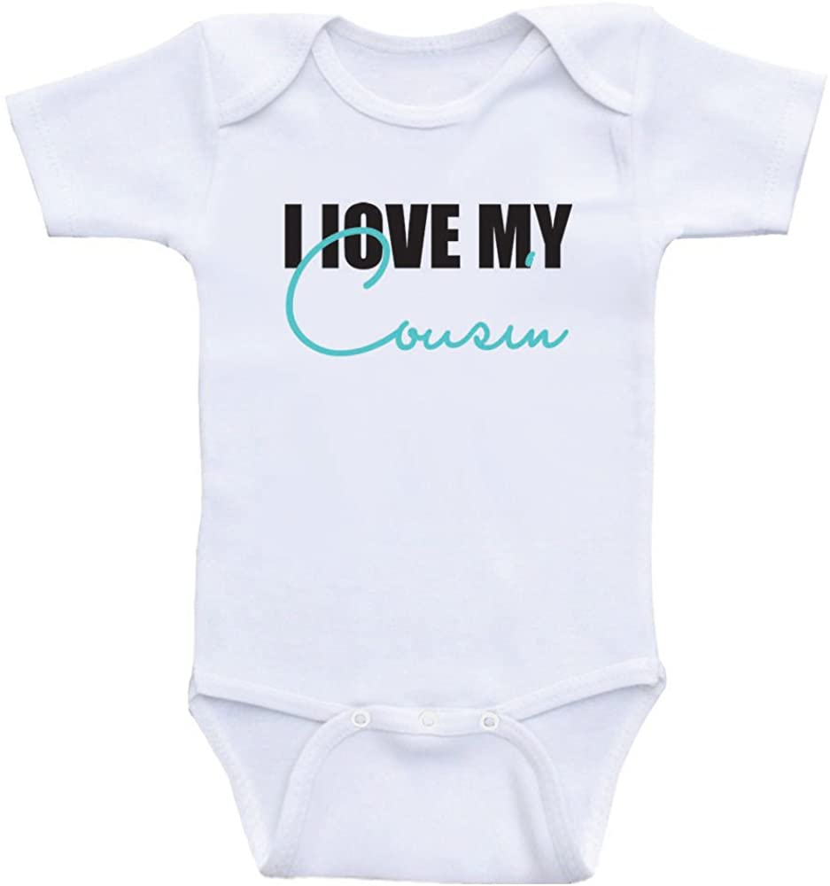 Cousin Baby Clothes I Love My Cousin Cute Baby Bodysuits