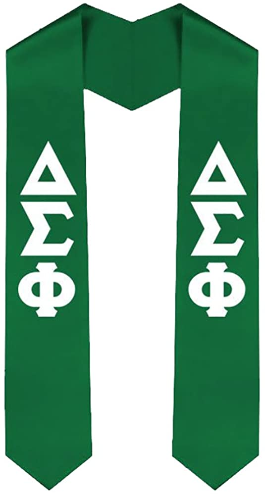 Delta Sigma Phi New Greek Lettered Graduation Sash Stole