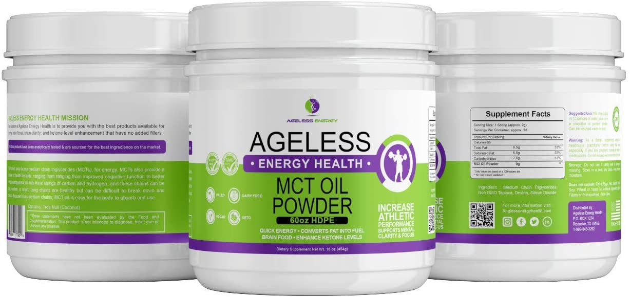MCT Oil Powder by Catchfire Energy Health- MCT Oil Powder�is Perfect for Your Low-carb or�ketogenic�Diet.�MCT (Medium Chain Triglycerides) Keto Supplement is Great for Energy