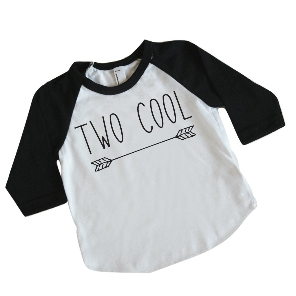 Bump and Beyond Designs Boy Second Birthday Outfit Two Cool Shirt 2nd Birthday Shirt (18-24 Months) Black