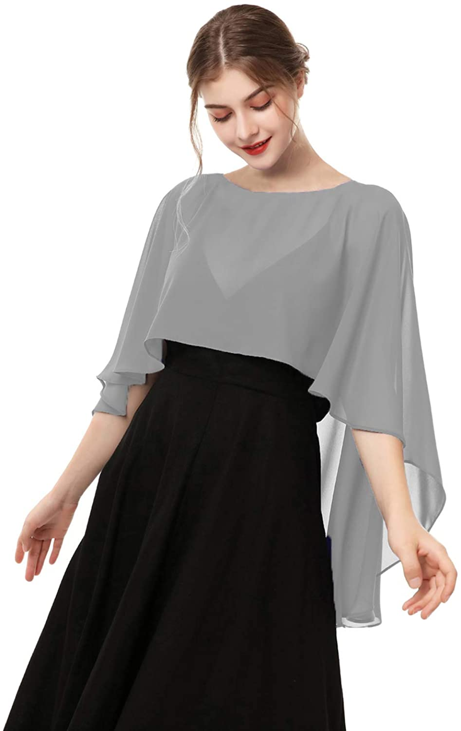 Wedding Capes Capelets for women Chiffon Cape Shawls and Wraps for Evening Dress