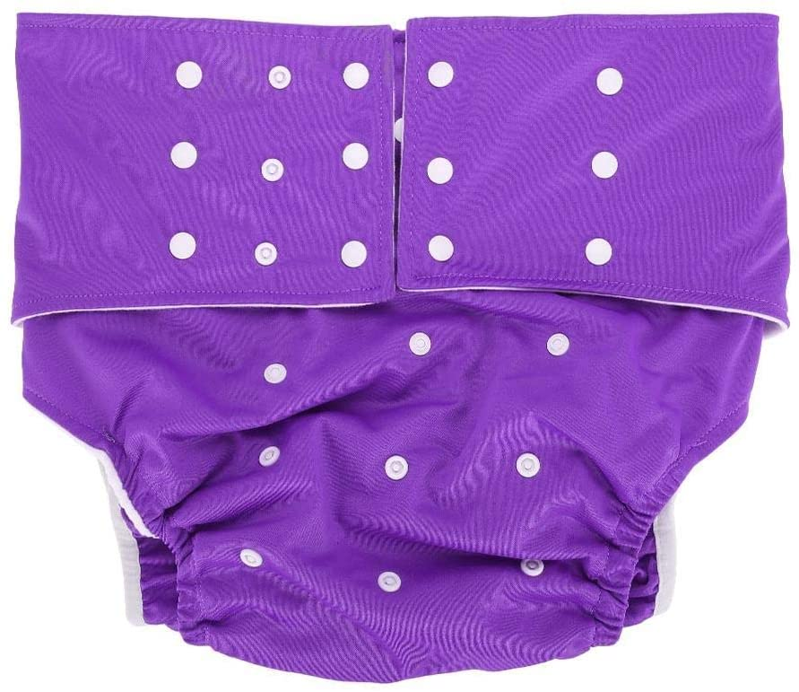 Adult Pocket Nappy, Pocket Diaper 5 Colors Washable Adult Pocket Nappy Cover Adjustable Reusable Diaper Cloth for Home(A4)