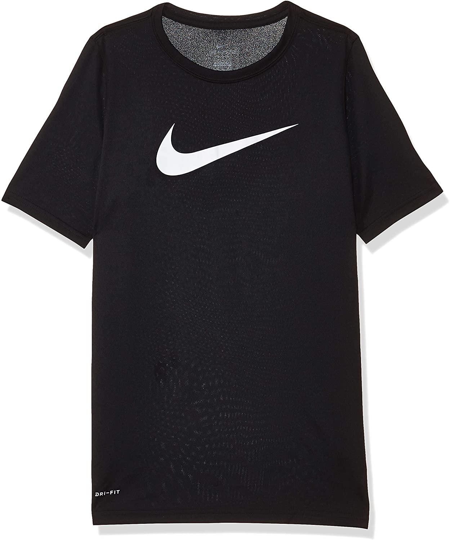 Nike Boy's Dri Fit Swoosh T Shirt Black/White Size Small