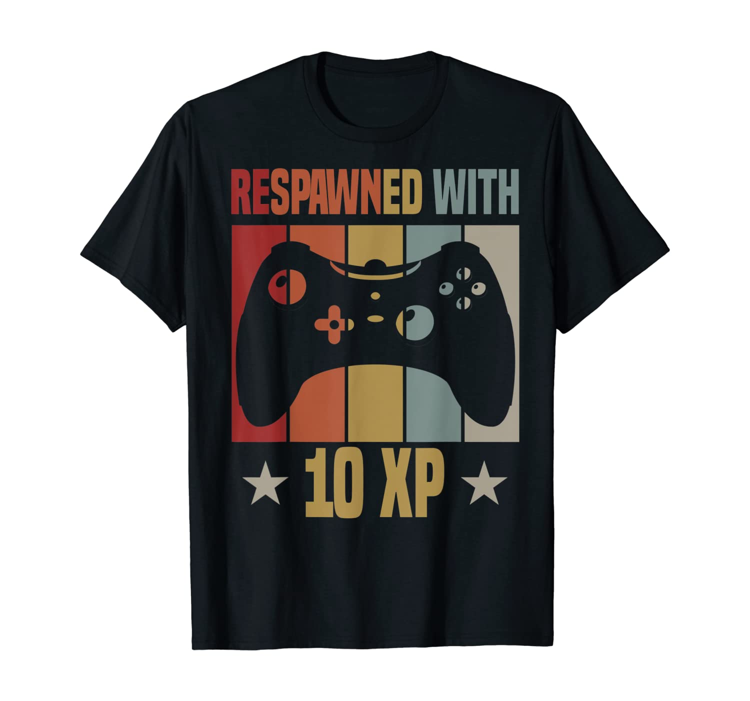 Respawned With 10 XP Video Gamer 10th Birthday Gifts Boy T-Shirt