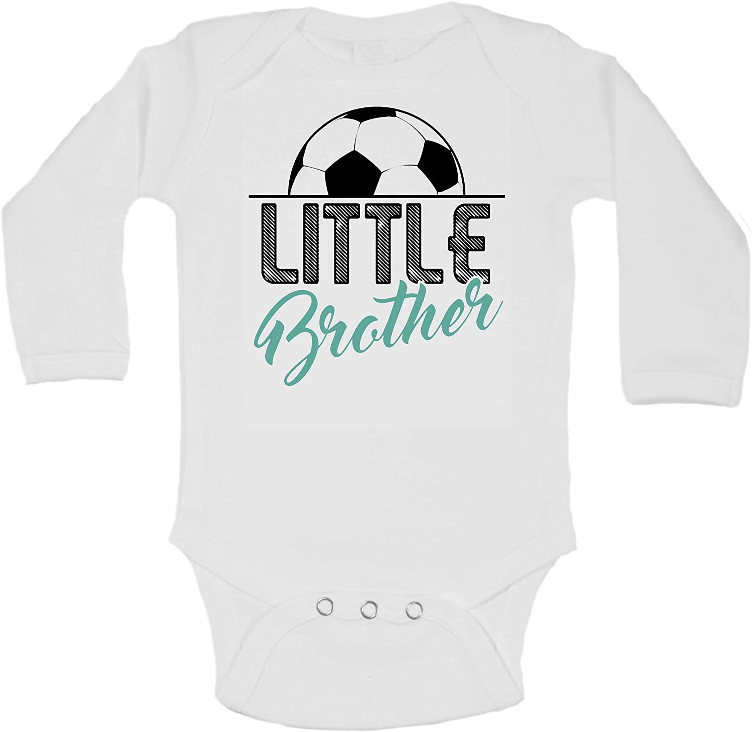 Big Bro Little Bro Family Sports Shirts Little Brother Soccer Fan Athletic Bodysuits - Toddler Tees White