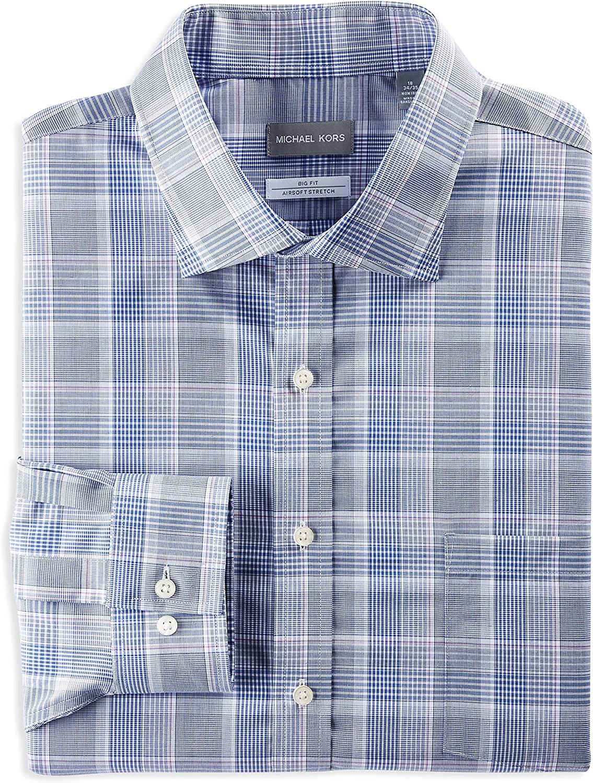 Michael Kors Multi Plaid Dress Shirt, Navy