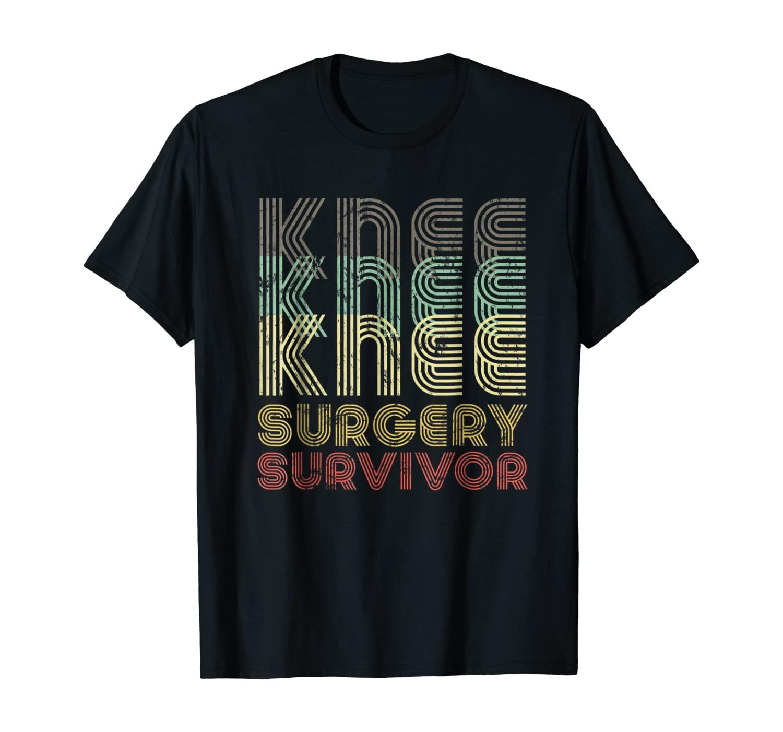 Retro Knee Surgery Survivor Shirt Hospital Get Well Gift Tee