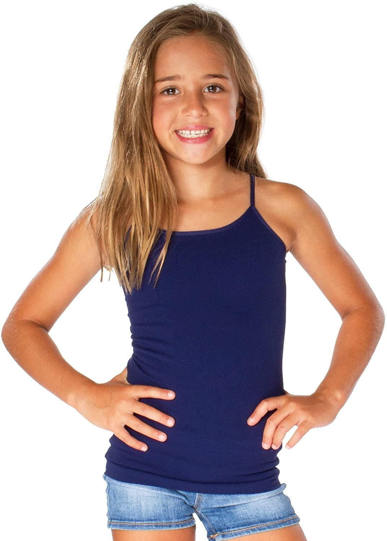 Malibu Sugar Little Girls Camisole - Cami Tank Tops for Girls Size 2-7