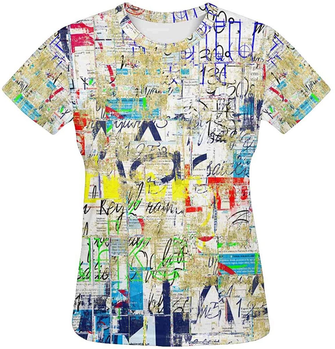 INTERESTPRINT Graffiti Street Wall. Grunge Wall Classic Short-Sleeve All Over Print Women's T-Shirt