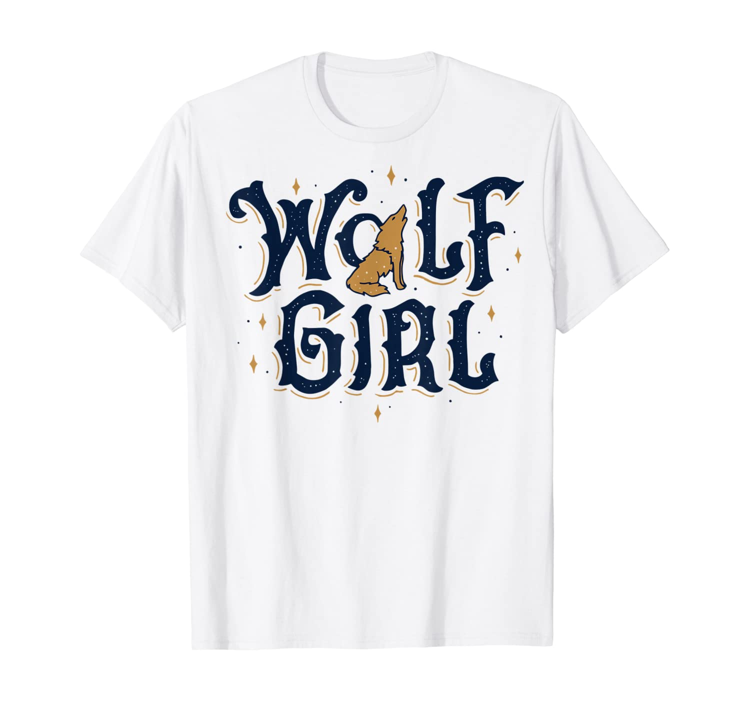 Wolf Girl Who Loves Wolves Funny Animal Lovers Gifts Women T-Shirt