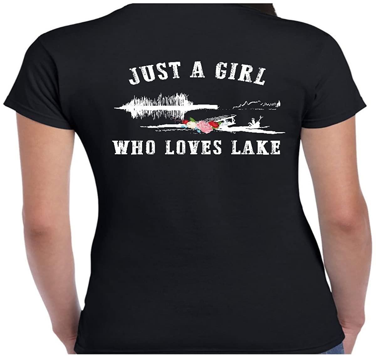 Women's Just a Girl who Loves Lake Shirt - Tshirt