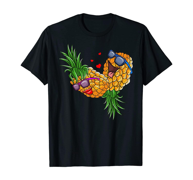 Funny Upside Down Pineapple Swinger Gift For Women And Men T-Shirt