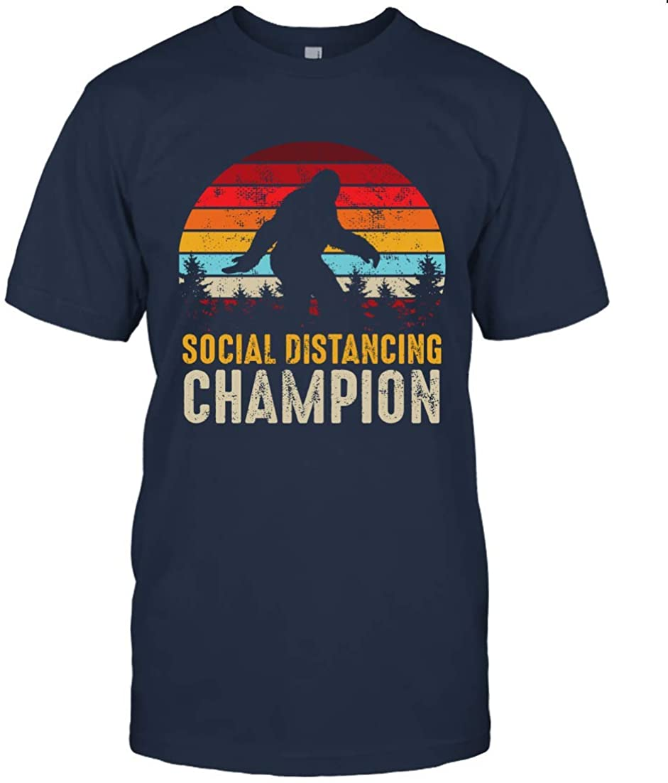 Funny Bigfoot Social Distancing Champion T-Shirt Social Distancing Bigfoot T-Shirt