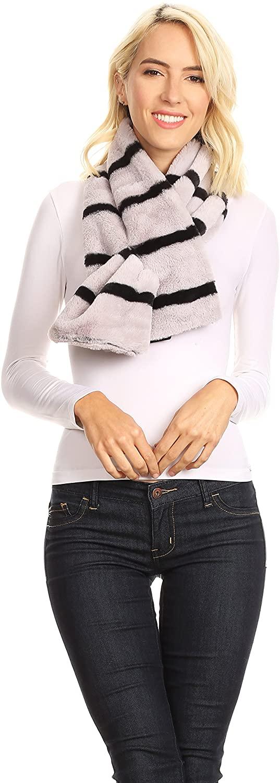 Sakkas Colette Faux Mink Warm Winter Soft Luxurious KeyHole Scarf
