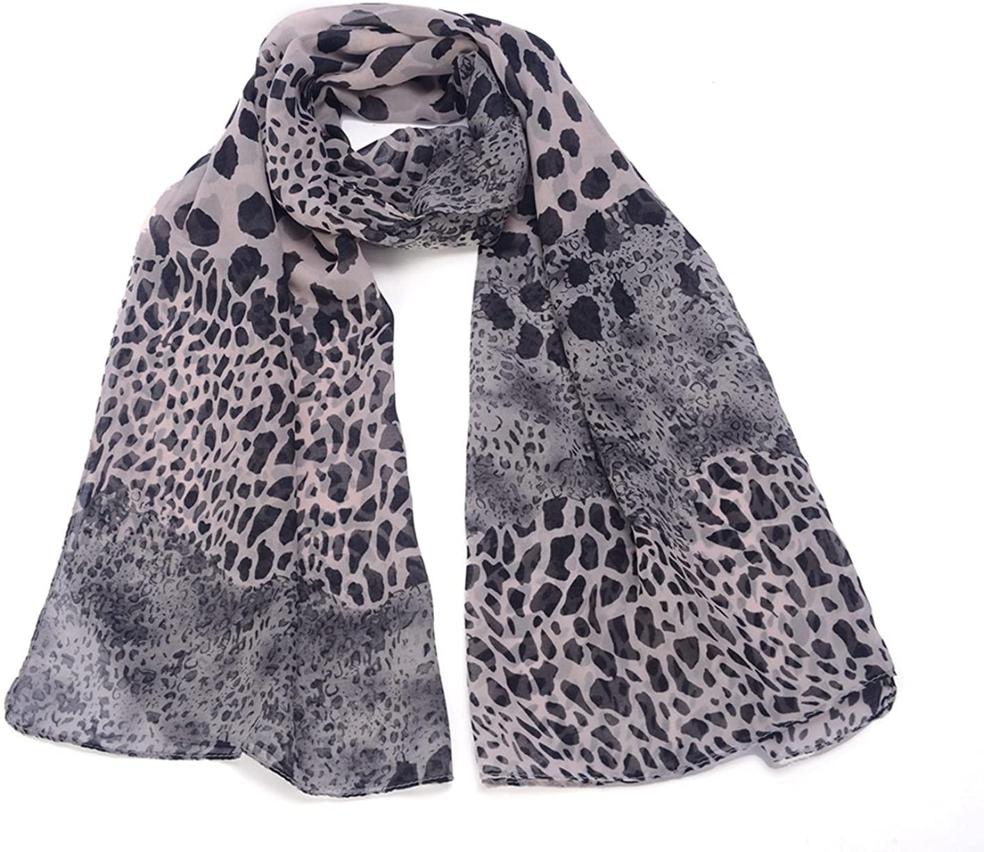 REINDEAR Women Premium Wild Style Leopard Print Scarf US Seller