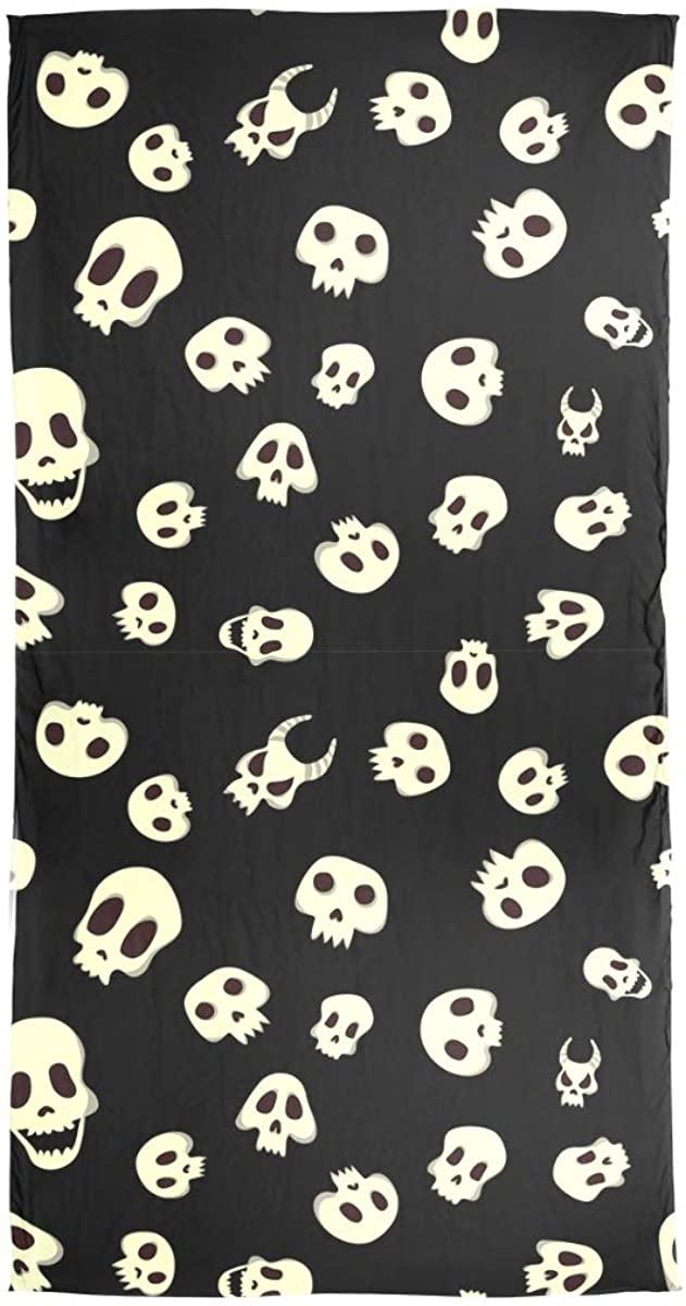EELa Long Scarf Shawl For Women Lightweight Soft Halloween Skulls Printed Wrap 70x35 inches