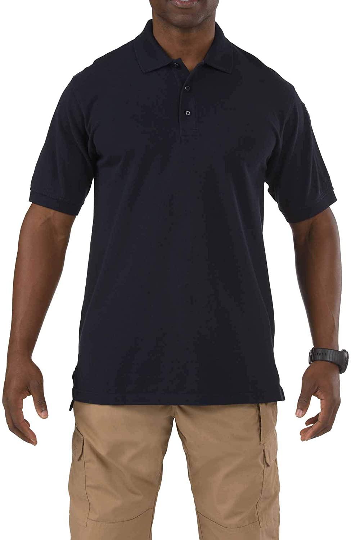 5.11 Tactical Mens Short-Sleeve Professional Polo, Dark Navy, Medium