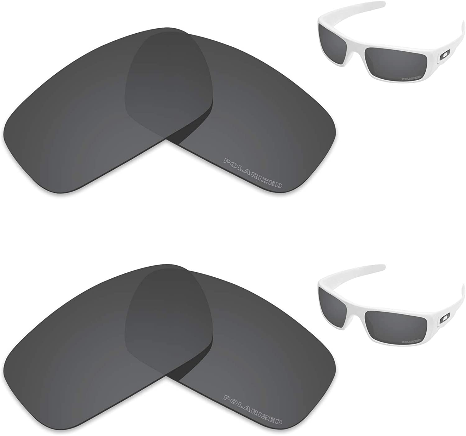 Tintart Performance Replacement Lenses for Oakley Crankshaft Polarized Etched - Value Pack