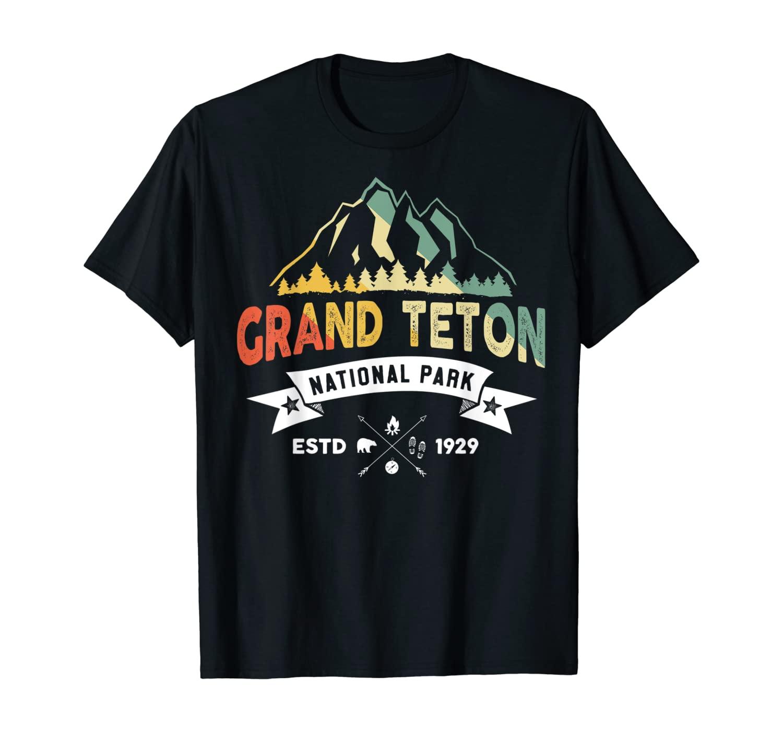 Vintage Retro Grand Teton National Park Shirt Souvenir T-Shirt