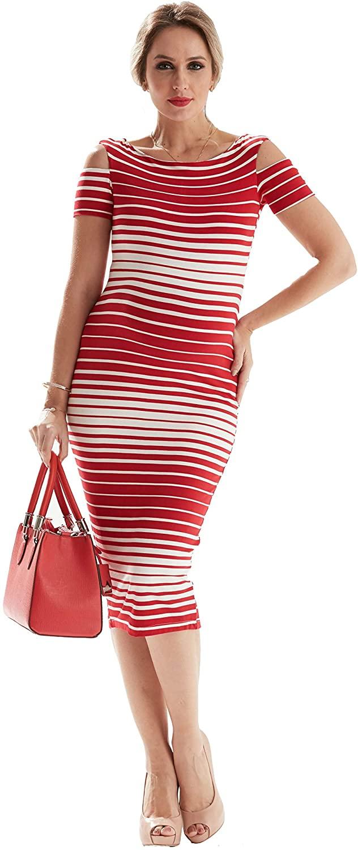 Women's Maternity Midi Bodycon Dress