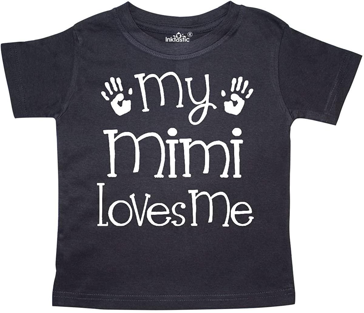 inktastic My Mimi Loves Me Grandkids Toddler T-Shirt