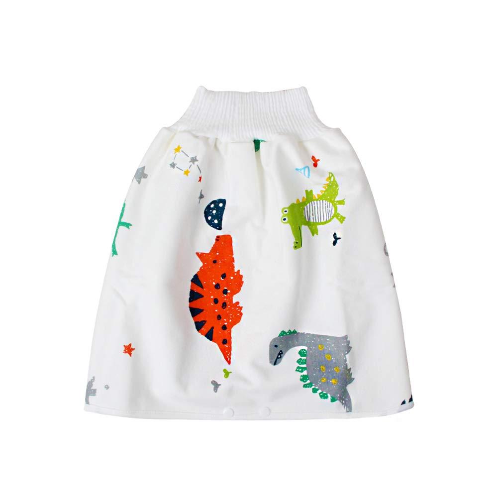 Baby Diaper Skirt, Cotton Washable Toilet Training Nappy Skirt, High Waist Leak-Proof Belly-Protecting Diaper Skirt