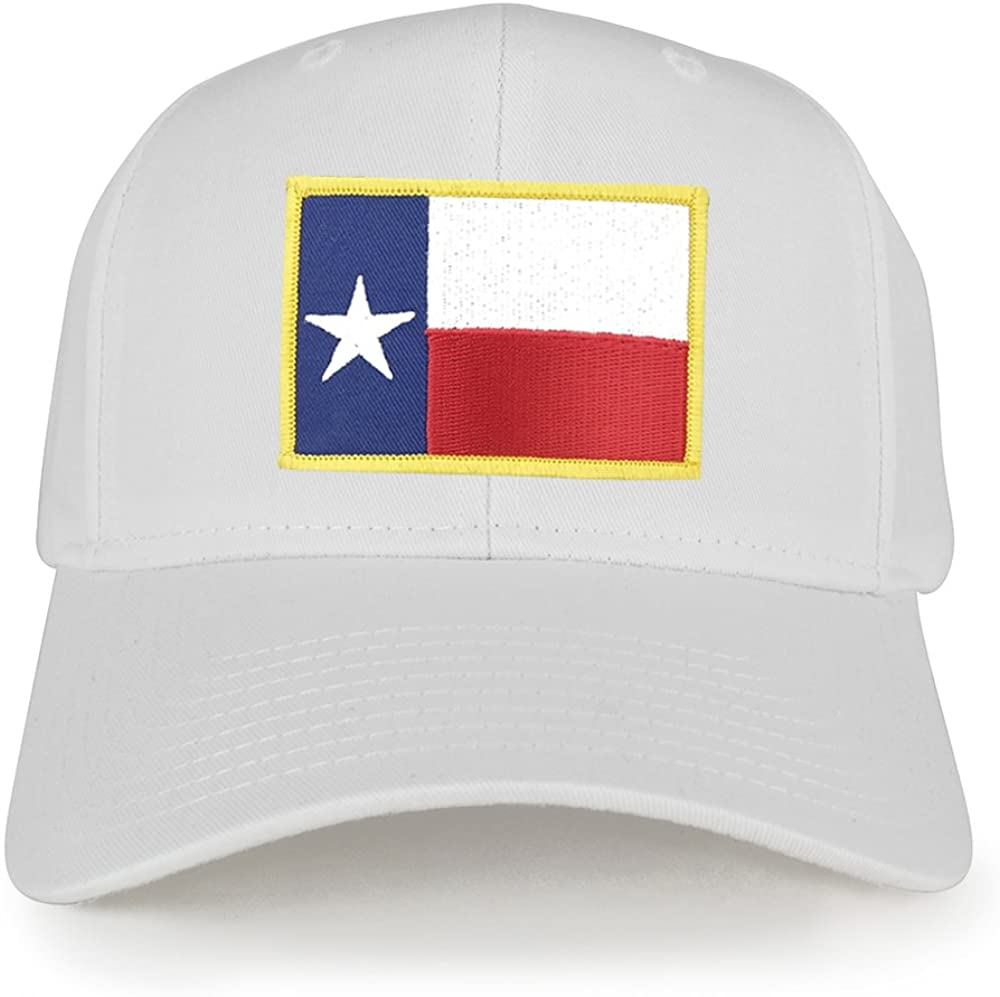 Texas State Flag Embroidered Iron on Patch Adjustable Snapback Baseball Cap