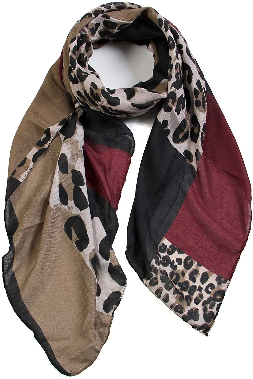 Scarfand's Premium Leopard Animal Print Fashion Scarf
