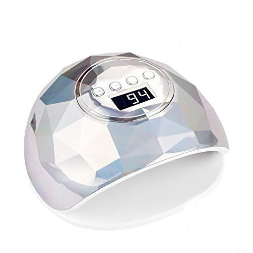 UV LED Nail Lamp 86W, Dual Light Source Curing Lamp, Professional 4 Timer Setting Gel Polish Light, Infrared Intelligent Sensor UV LED Nail Polish Dryer