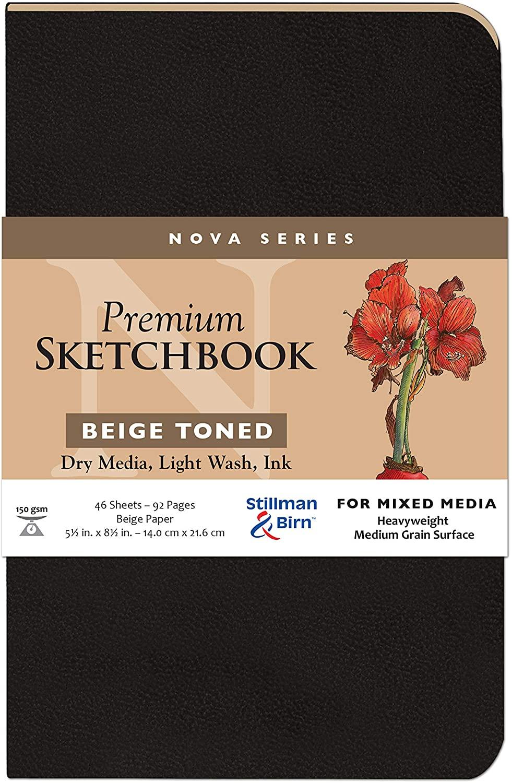 Stillman & Birn Nova Series Beige Softcover Sketchbook, 5.5