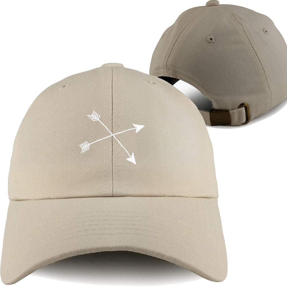 Embroidered Hat Dad and Women Baseball Cap Truck Hats Arrow Logo Sand