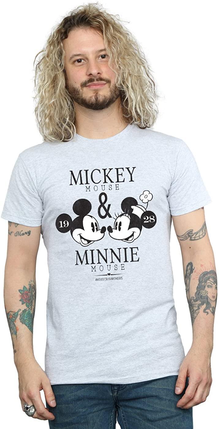 Disney Men's Mickey and Minnie Mouse Mousecrush Mondays T-Shirt Sport Grey Medium