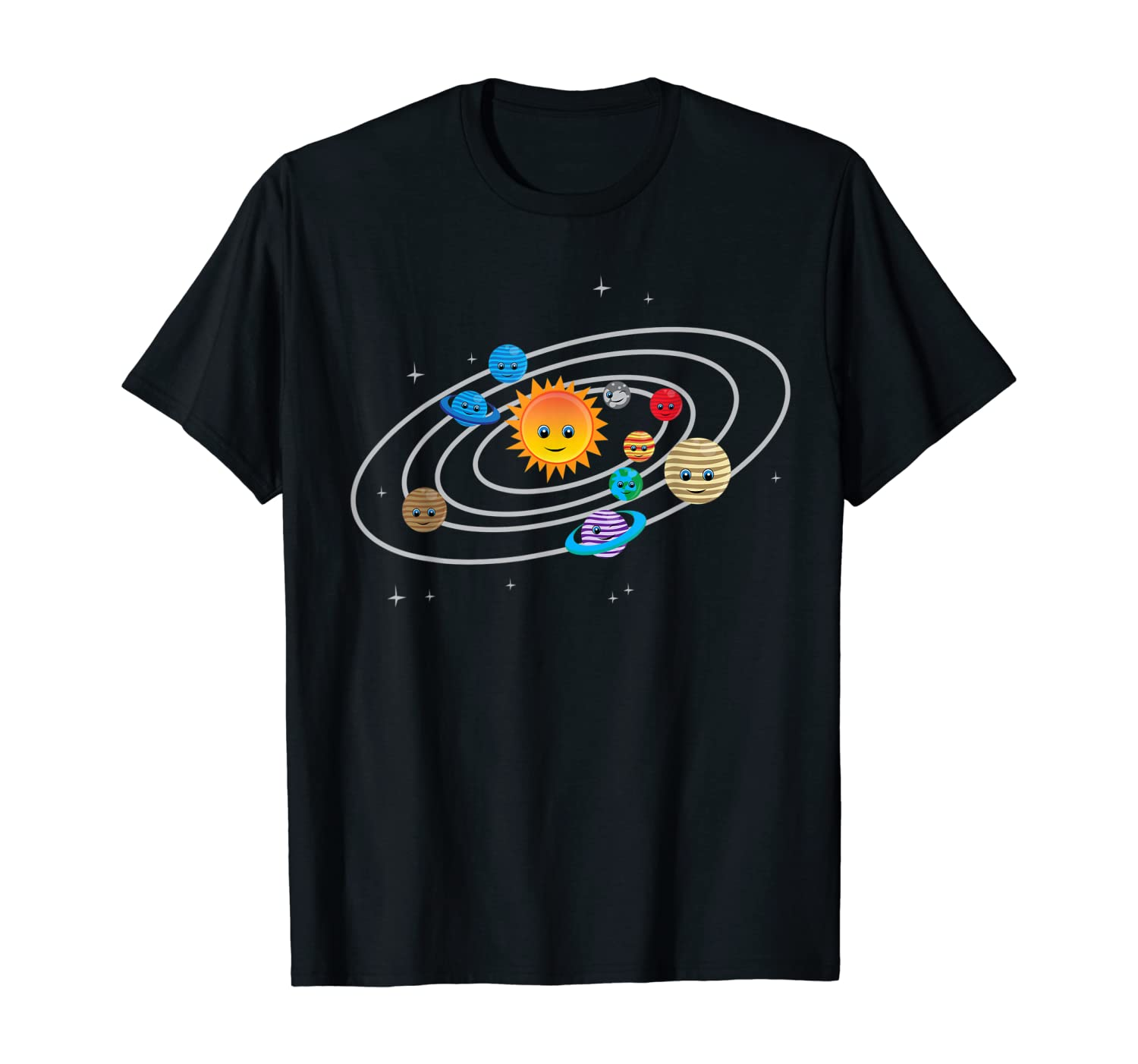 Solar System Planets Earth & Sun T-Shirt for Toddler & Kids