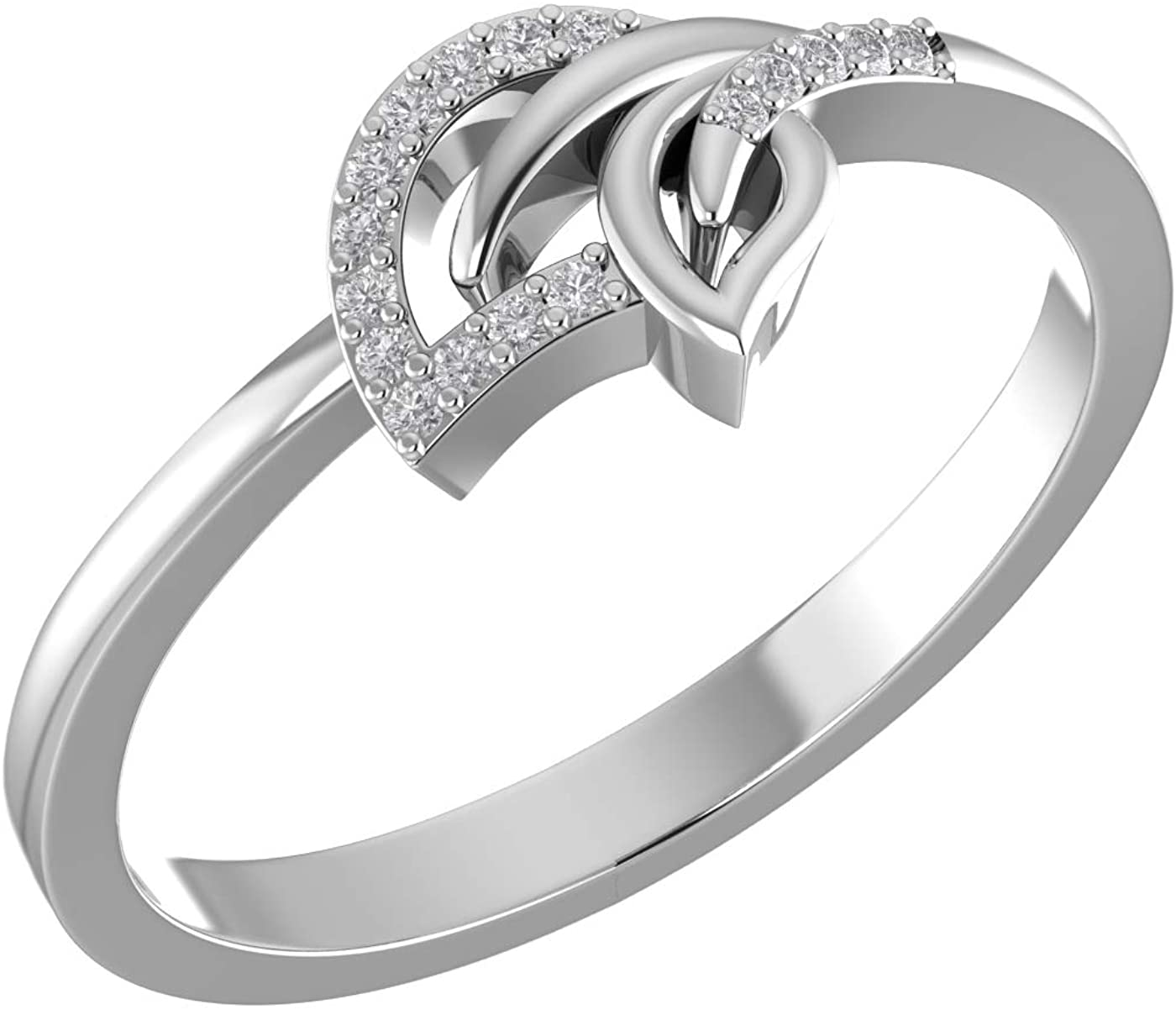 Amayra Diamond Ring 0.06 CTW-17 Natural Round Stones Set in 925 Sterling Silver- Brilliant Cut- Perfect for Bridal Promise Ring,Anniversary,Daily wear or Parties (Color-GH Clarity-VS-SI)