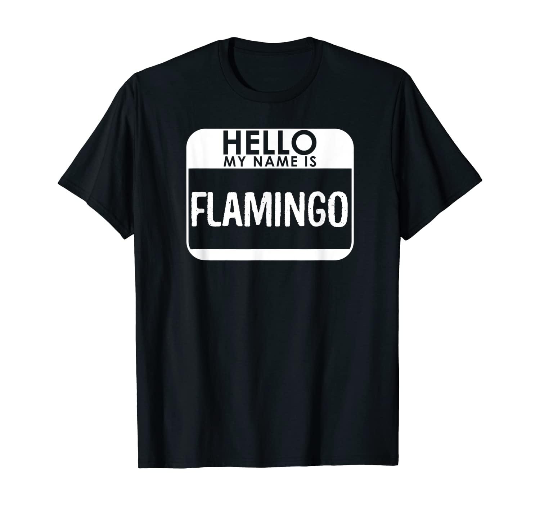 Flamingo Costume Shirt Funny Easy Last Minute Halloween Gift T-Shirt