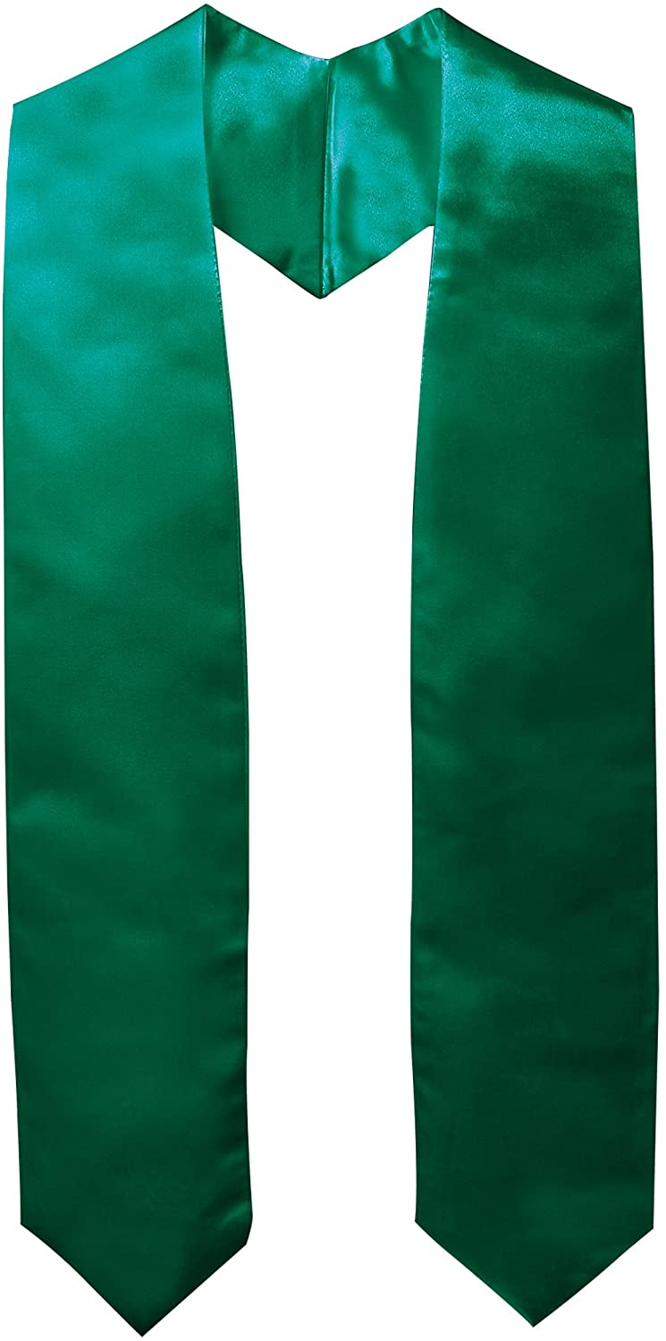 GraduationMall Unisex Adult Plain Graduation Stole Sash 60