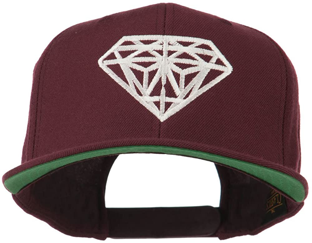 Big Diamond Embroidered Flat Bill Cap
