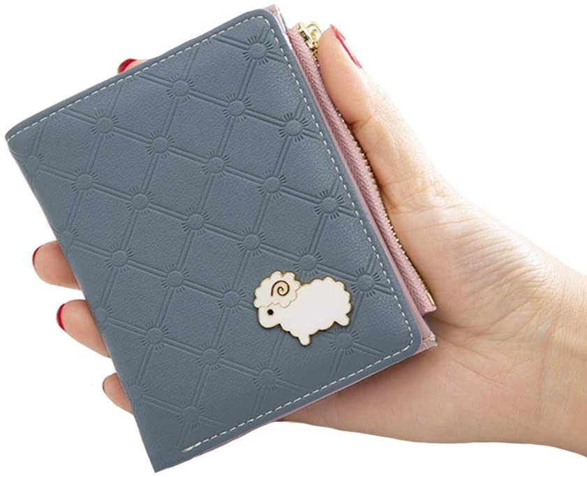 Small Leather Wallet for Women, Women's Credit Card Holder Mini Bifold Pocket Purse