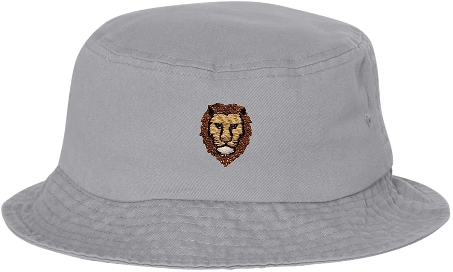 Go All Out Adult Lion Embroidered Bucket Cap Dad Hat