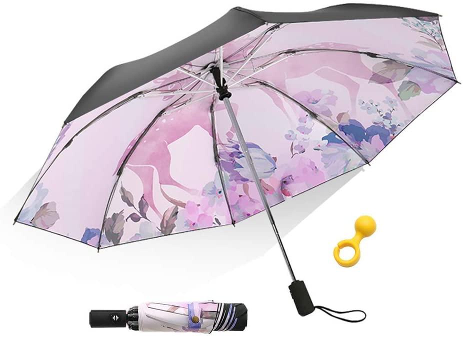 Inverted Umbrella, Reverse Automatic Folding Umbrella, Windproof Travel Umbrella for Women and Men in Rain and Sun