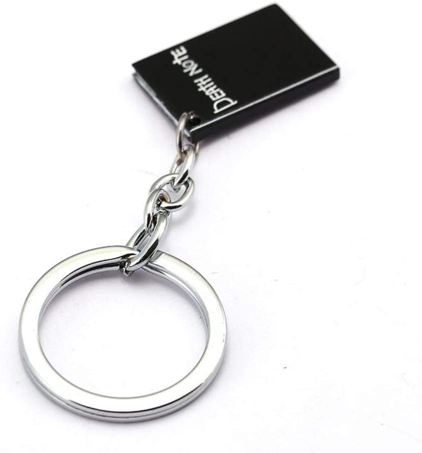 Momoso_Store hot anime death note keychain for men gift death note key chains black book