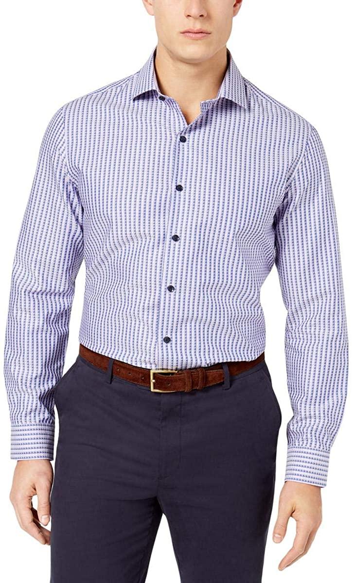 Tasso Elba Men's Supima Cotton Dobby Striped Shirt