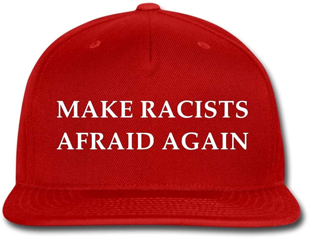 Spreadshirt Make Racists Afraid Again Funny Slogan Snapback Cap