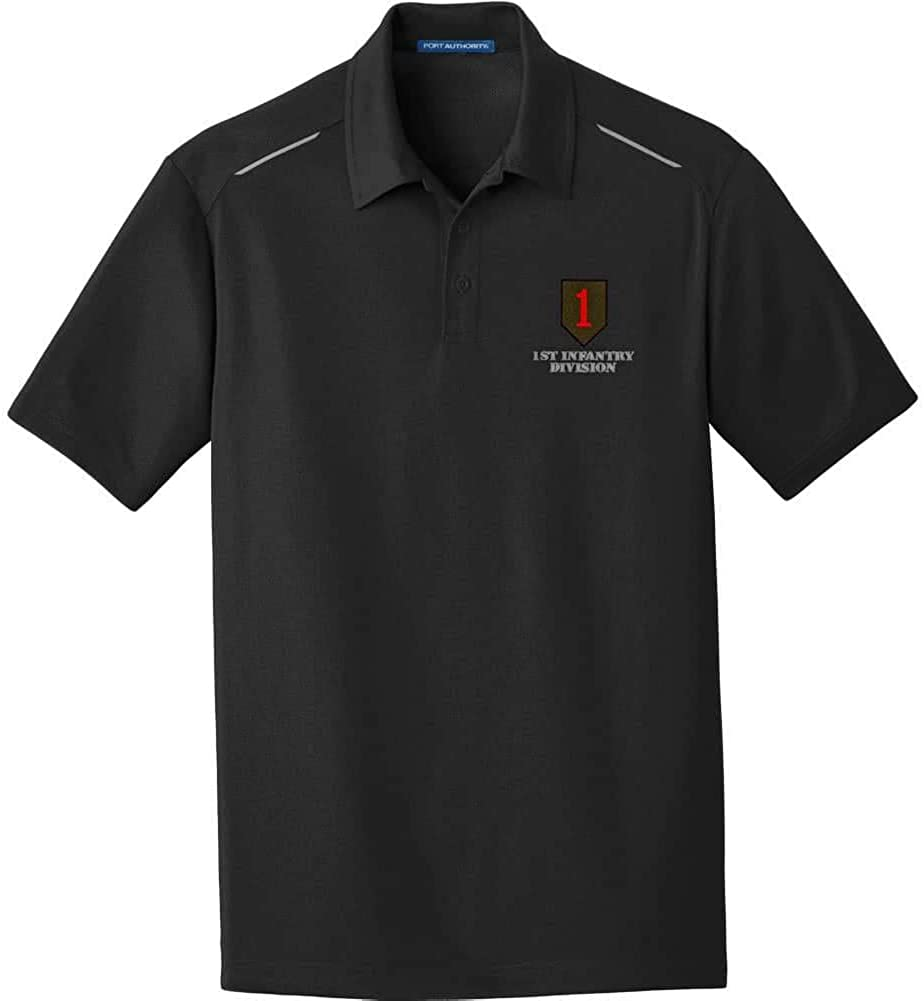 Army 1st Infantry Division Embroidered Performance Golf Polo